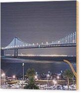 Bay Bridge Grand Lighting Ceremony Wood Print by David Yu