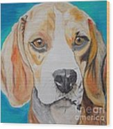 Beagle Wood Print by PainterArtist FIN