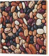 Beans Wood Print by Elena Elisseeva