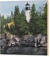 Bear Island Lighthouse Wood Print by Jack Skinner