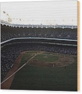 Beautiful Right Field View Of Old Yankee Stadium Wood Print by Retro Images Archive