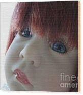 Beautiful Doll Wood Print by Renee Trenholm
