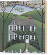 Beekeeper's Cottage Wood Print by Catherine Holman