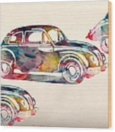 Beetle Car Wood Print by Mark Ashkenazi