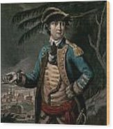Benedict Arnold Wood Print by English School