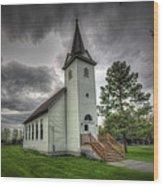Bethany Prairie Church Wood Print by David Foster