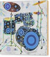Big Boom Bullseye Wood Print by Russell Pierce