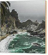 Big Sur's Emerald Oaza Wood Print by Eduard Moldoveanu