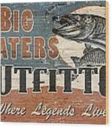 Big Waters Outfitters Wood Print by JQ Licensing