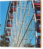 Big Wheel Wood Print by Kaye Menner