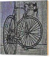 Bike 4 On Map Wood Print by William Cauthern