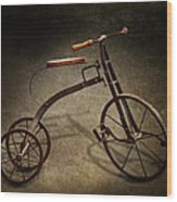 Bike - The Tricycle  Wood Print by Mike Savad