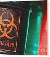 Biohazard Wood Print by Olivier Le Queinec