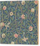 Bird And Pomegranate Wood Print by William Morris