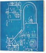 Bird Respirator Patent Art 1962 Blueprint Wood Print by Ian Monk