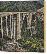 Bixby Creek Bridge Wood Print by Heather Applegate