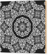 Black And White Medallion 10 Wood Print by Angelina Vick