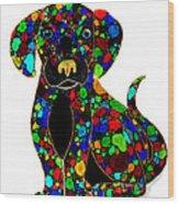 Black Dog 2 Wood Print by Nick Gustafson
