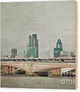 Blackfriars Bridge Wood Print by Violet Gray