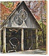 Blacksmith Shop Wood Print by Susan Leggett