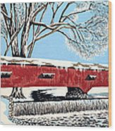 Blankets Of Winter Wood Print by David Linton