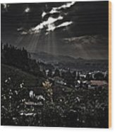Blessed By Light Wood Print by Michael  Bjerg