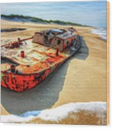 Blood And Guts II - Outer Banks Wood Print by Dan Carmichael