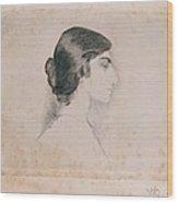 Blood Florence, Self-portrait, 1898 Wood Print by Everett