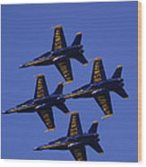 Blue Angels Wood Print by Bill Gallagher