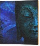 Blue Balance Wood Print by Joachim G Pinkawa
