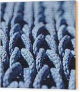 Blue Wood Print by Dan Holm