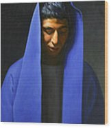 Blue Wood Print by Gary  Hernandez