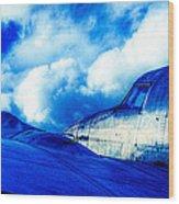Blue Hudson Wood Print by motography aka Phil Clark