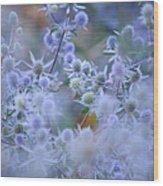 Blue Infinity Wood Print by Jenny Rainbow