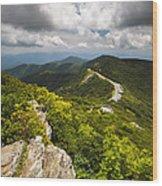 Blue Ridge Parkway Craggy Gardens Asheville Nc - Craggy Pinnacle Wood Print by Dave Allen