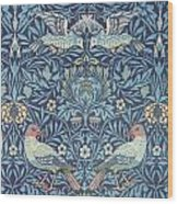 Blue Tapestry Wood Print by William Morris