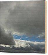 Blue Window Wood Print by Donna Blackhall