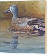 Blue Winged Teal Wood Print by Rick Huotari
