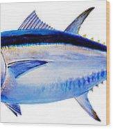 Bluefin Tuna Wood Print by Carey Chen
