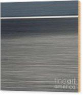 Blurred Sea Wood Print by Bernard Jaubert