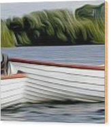 Boats Wood Print by Stefan Petrovici