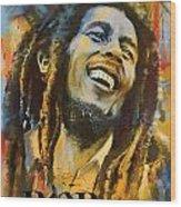 Bob Marley Wood Print by Corporate Art Task Force