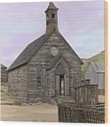 Bodie Church Wood Print by Mel Felix