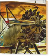 Boeing 100p Fighter Wood Print by David Patterson