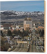 Boise Idaho Wood Print by Robert Bales