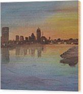 Boston Charles River At Sunset  Wood Print by Donna Walsh