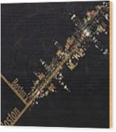 Boston City Skyline Wood Print by Corporate Art Task Force