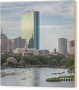 Boston Skyline I Wood Print by Clarence Holmes