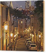 Boston View From Charlestown Wood Print by Juergen Roth