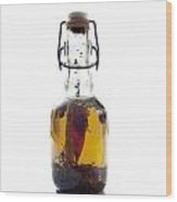 Bottle Of Oil Wood Print by Bernard Jaubert